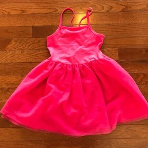 Girls Pink Dress With Tool Bottom Skirt Size 4T